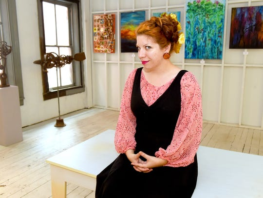 Carmel Clavin is photographed within space she would