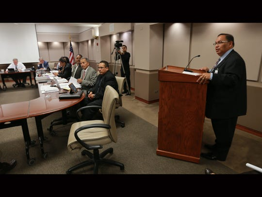 New University Medical Center of El Paso CEO Jacob Cintron reports during his first board meeting Tuesday.