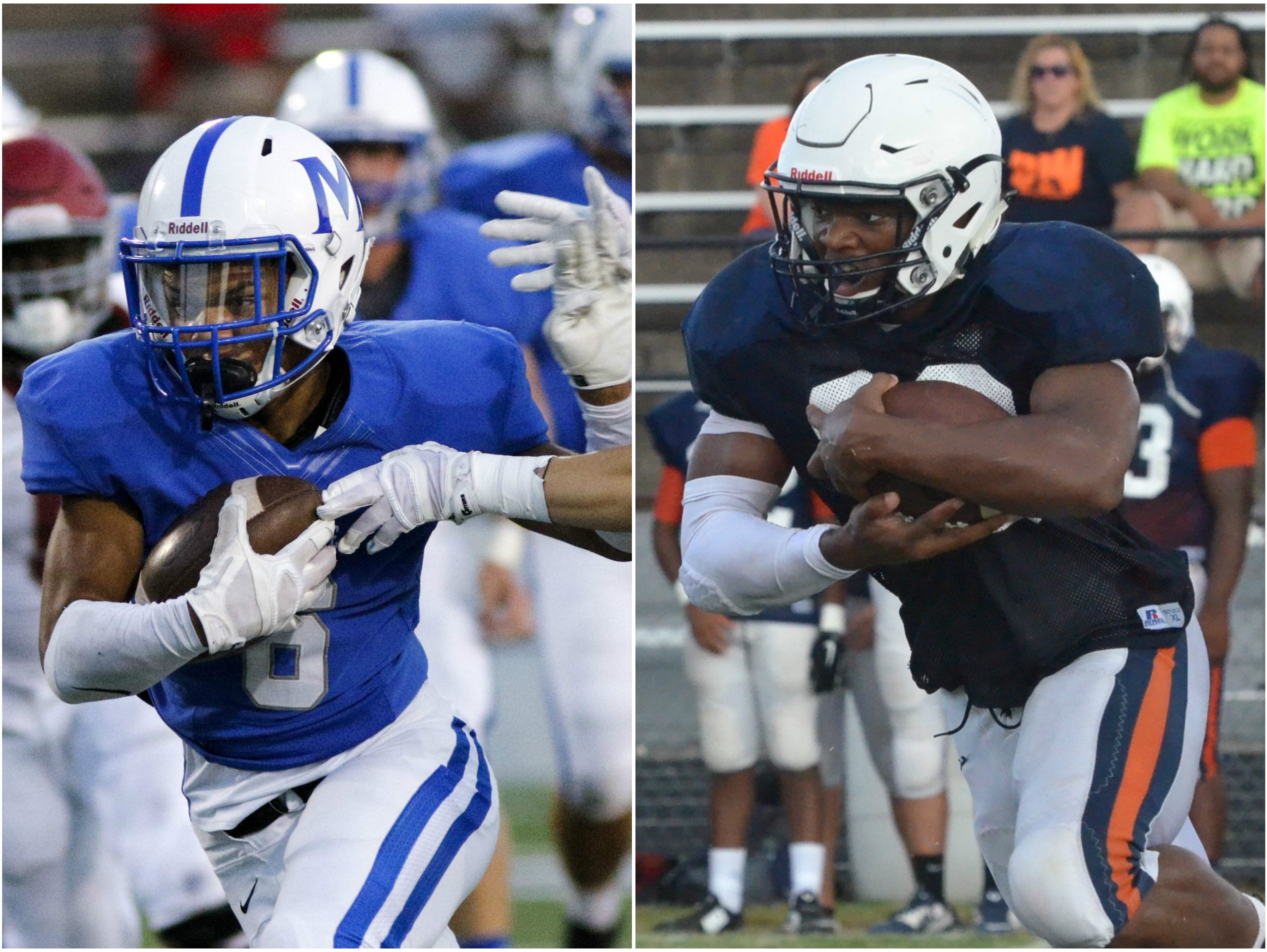 McCallie running back Rico Dozier (left) and Blackman running back Master Teague (right)