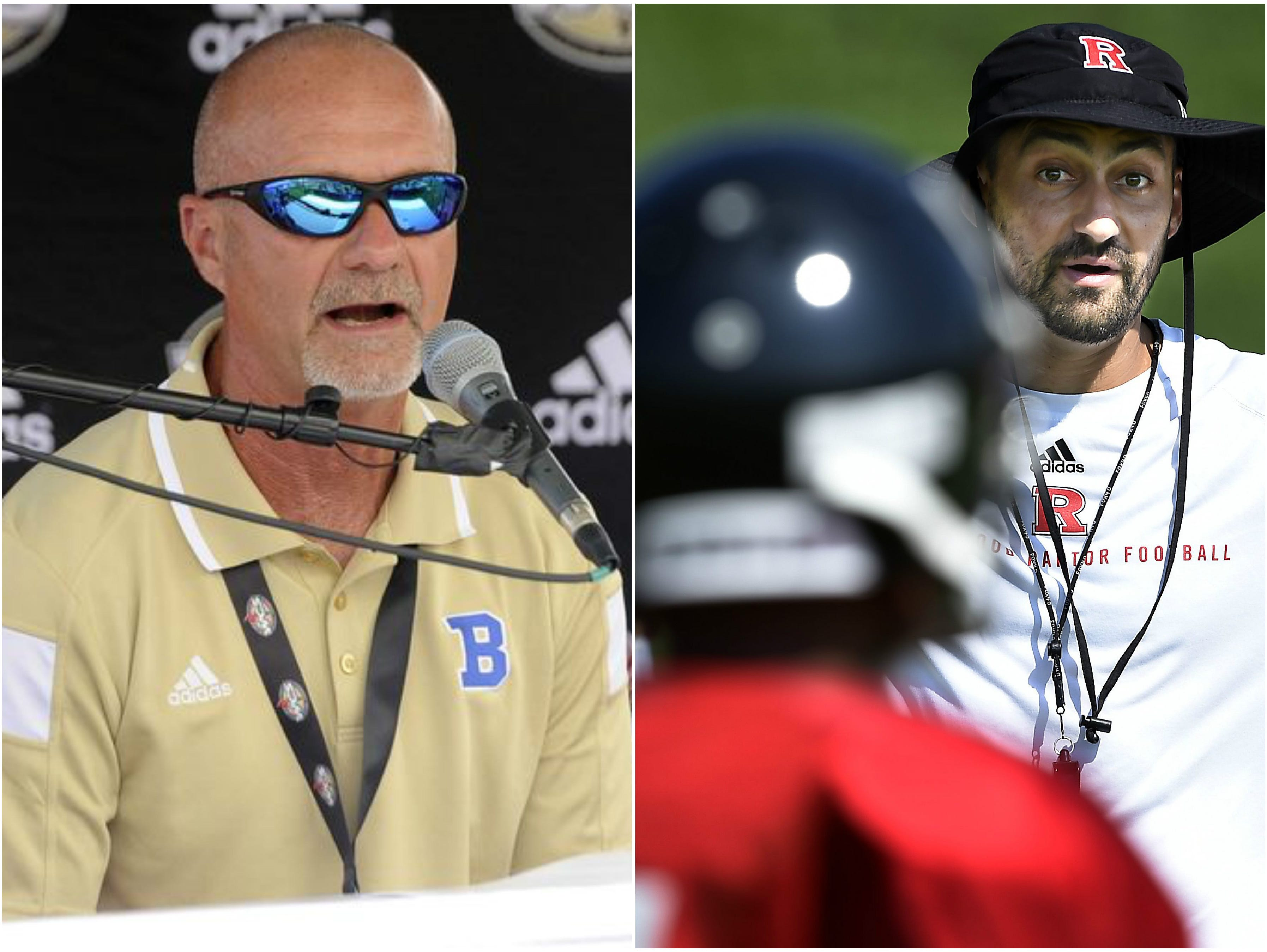 Brentwood coach Ron Crawford (left) and Ravenwood coach Richie Wessman (right)