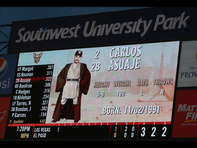 Players were depicted in Star Wars outfits as they