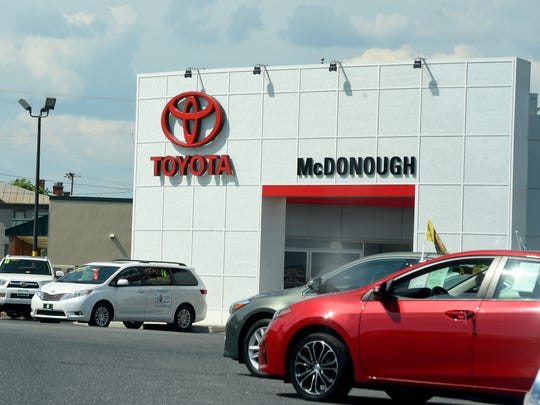 As instructed by Toyota, McDonough Toyota constructed