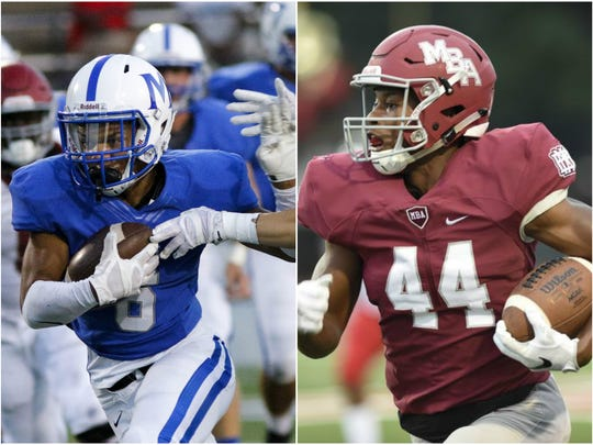 McCallie running back Rico Dozier (left) and MBA running