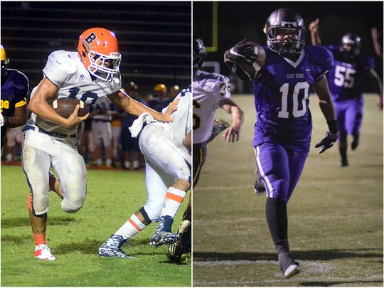 Beech running back Chaz Williamson (left) and Cane
