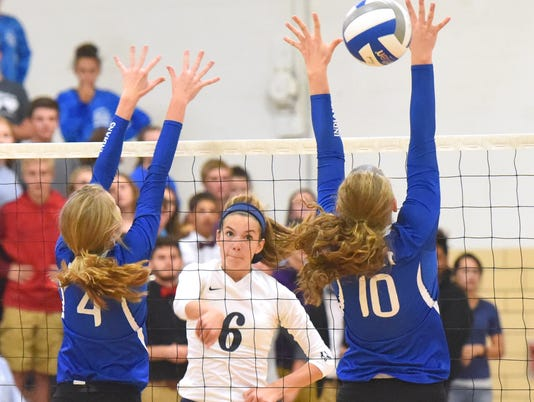 Fort Defiance at R.E. Lee volleyball