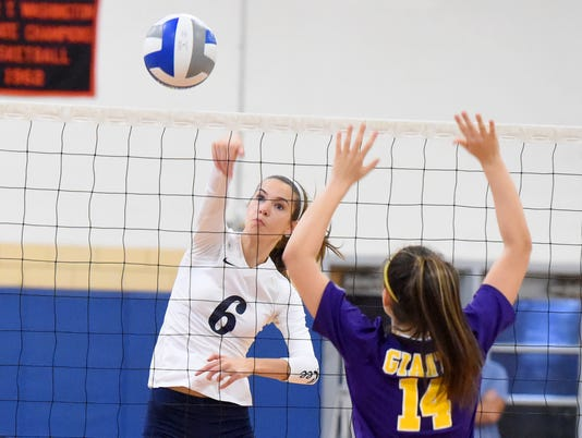 Waynesboro at R.E. Lee volleyball