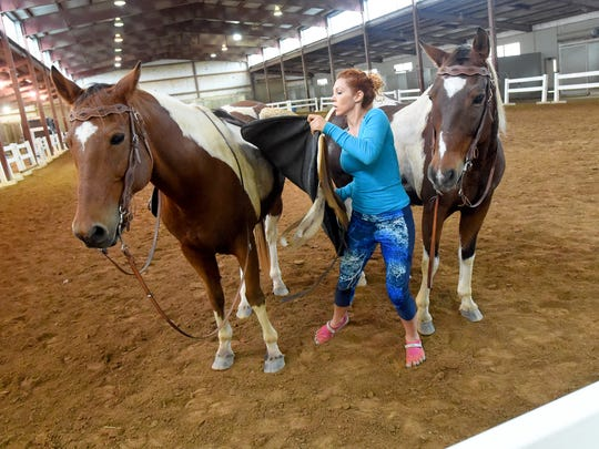 Fairland Ferguson is trading in her horses and trick riding for an acting career.