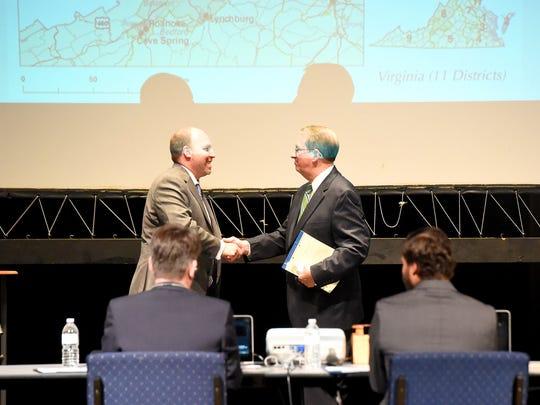 Democratic challenger Kai Degner and U.S. Rep. Bob