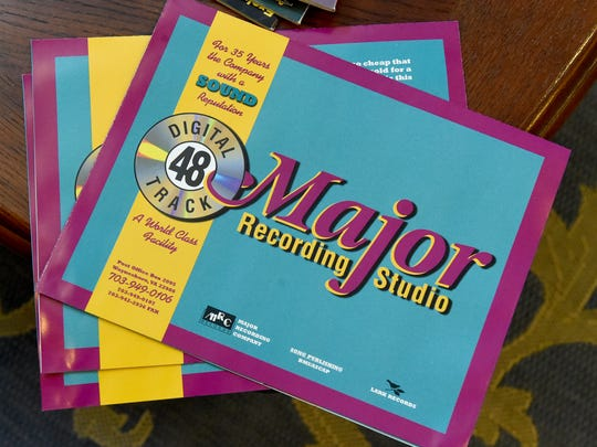 A brochure for Major Recording Studio after the company had been around for 35 years.