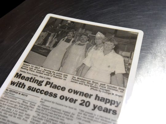A News Leader article published in June 1994 features a photograph with meat cutters Greg Peduto and John Wood Jr. with business founder Frank Clemmer and then manager Terri Breeden. Peduto and Wood both continue to work at The Meating Place as does Breeden, who now owns the business.