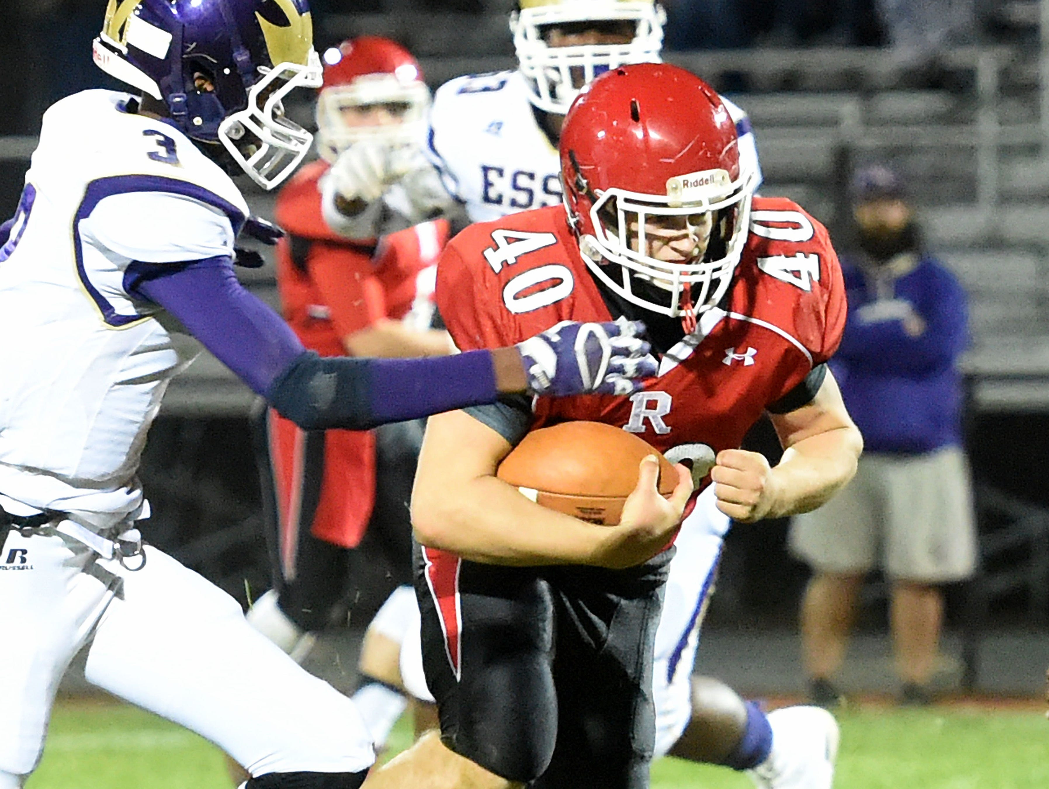 Harrison Schaefer rushed for 113 yards and three touchdowns in Riverheads' 38-0 win over Essex in the 1A East quarterfinals last Friday.