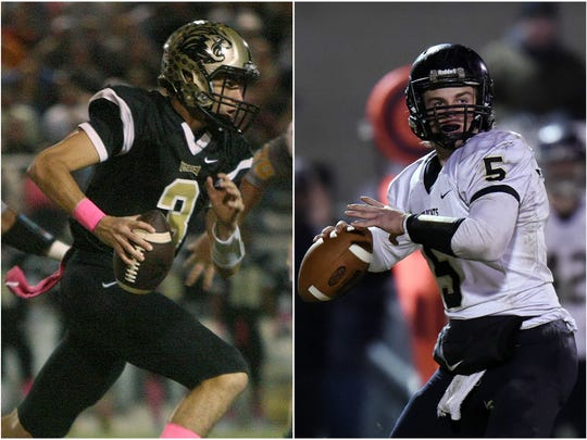 Dresden quarterback Dresser Winn (left) and Wayne County