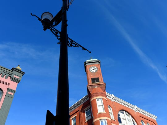 The clocktower located in downtown Staunton. Photograph taken on Monday, Dec. 5, 2016.