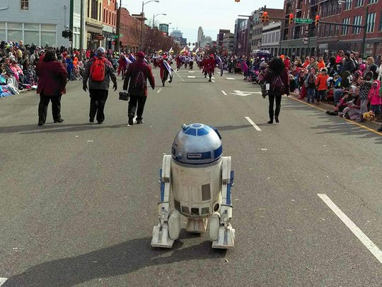 Andy Wiseman's replica of R2-D2, a droid character