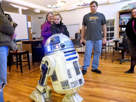 He made himself a Star Wars R2-D2