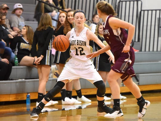 Buffalo Gap's Hannah Varner (12) tore her ACL in early