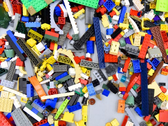 A fraction of the massive pile of Lego building blocks