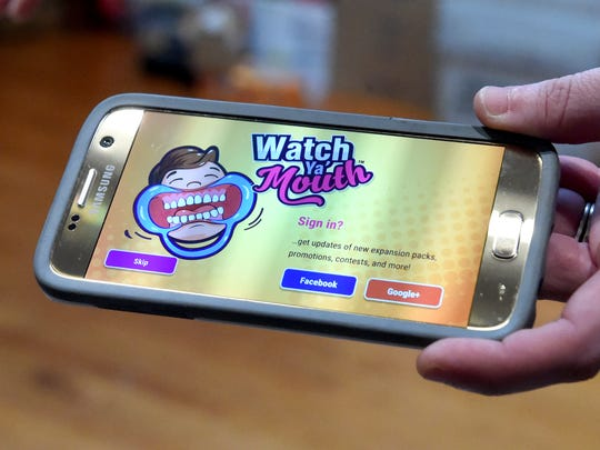 "An app available that can be used with the game, ""Watch Ya' Mouth."""