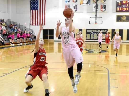 Buffalo Gap's Leah Calhoun averaged 16.5 points a game, but down the stretch she really turned it up, scoring almost 24 per game in her team's final five contests.