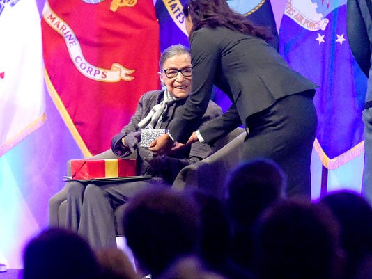 Supreme Court Justice Ruth Bader Ginsburg at VMI