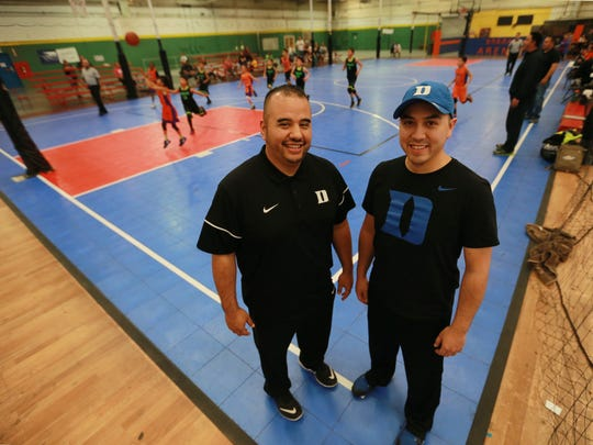 Brothers Charlie, left, and David Perez are in the second year of a three-year deal with Coca-Cola to bring regional youth bsketball tournaments to El Paso. Three tournaments are planned for this year.