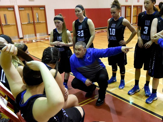 Josh McElheny ends his four years as Lee High's girls basketball coach.