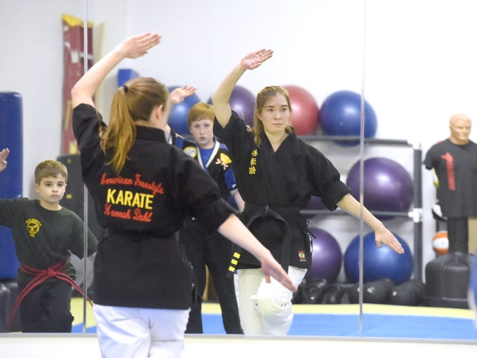 Hannah Dahl, a 3rd degree black belt in American Freestyle
