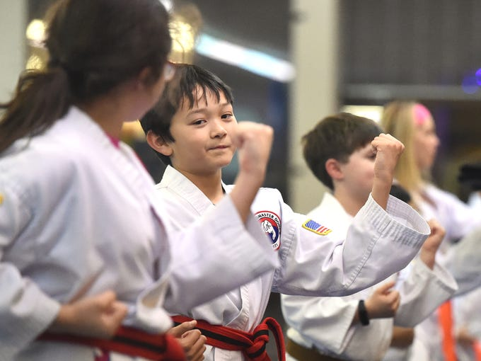 Ten-year-old B.C. Sommerfield, a red belt with black