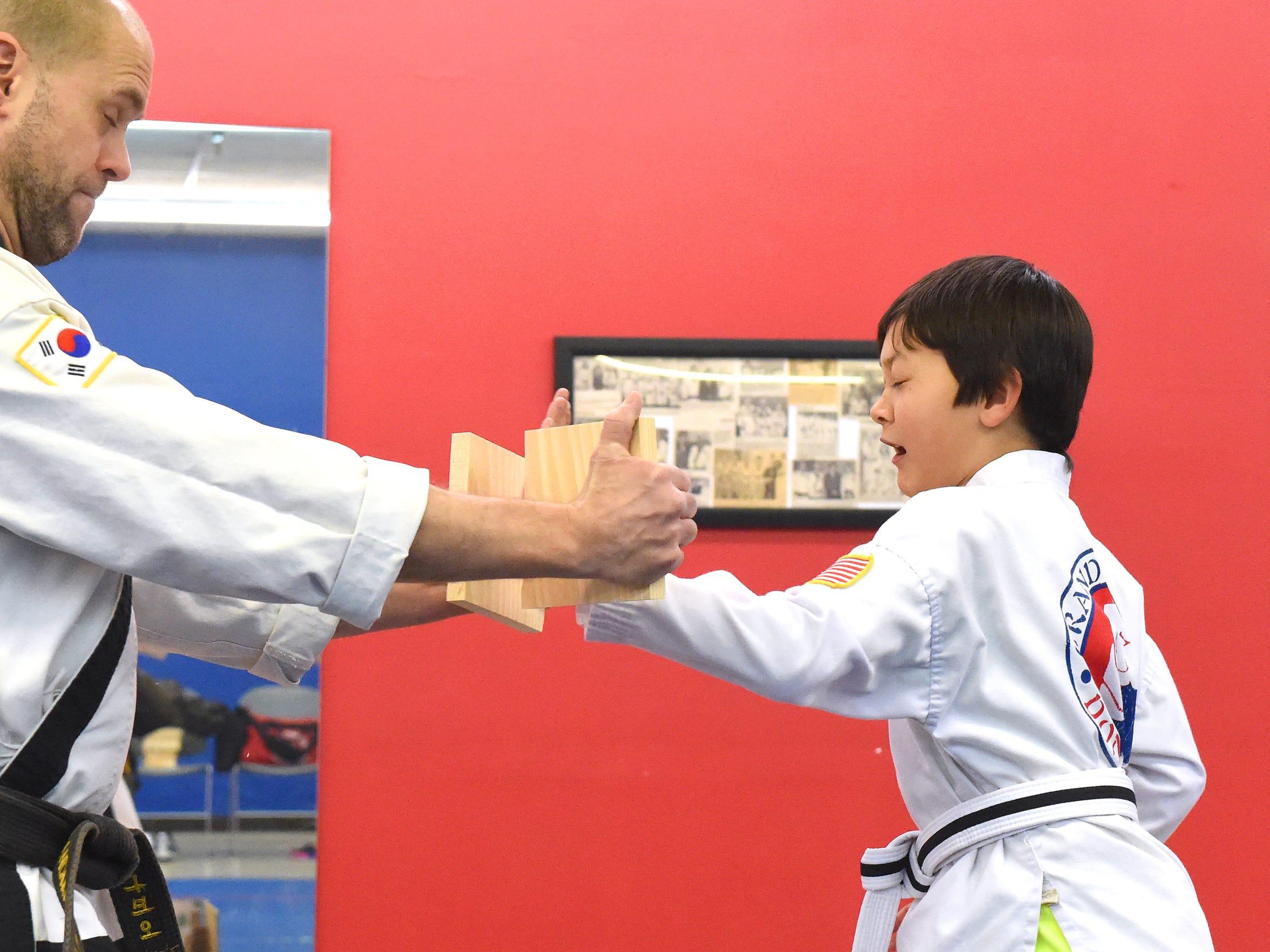 Ten-year-old B.C. Sommerfield, a BoDan (pre-black belt)