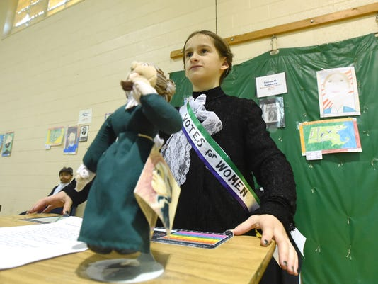 Wax museum at Beverley Manor Elementary