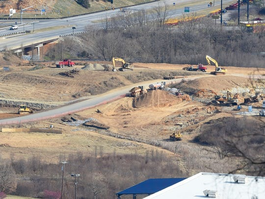 Construction at the Frontier Center project viewed