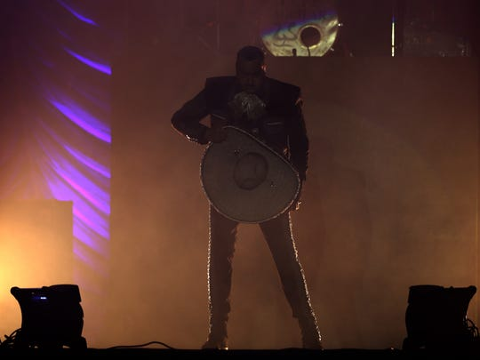 Pepe Aguilar performed Sunday.