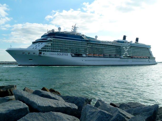 The 122,000-gross-ton, 2,850-passenger Celebrity Solstice