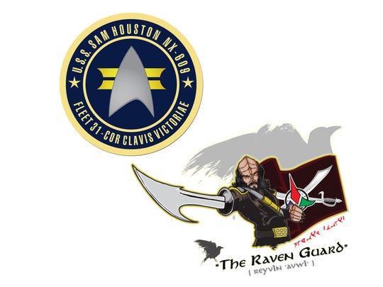 Logos representing a local Star Trek fan group, named
