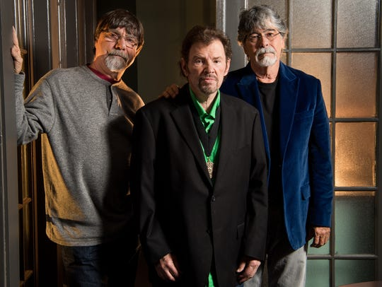 Members of Alabama, from left, Teddy Gentry, Jeff Cook,