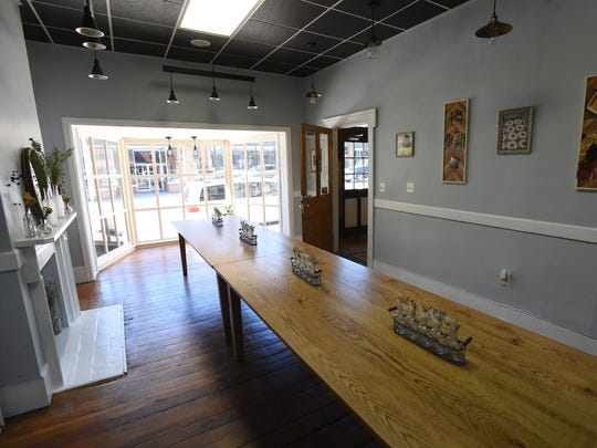 Inside Blue Oregano, located at 403 West Main Street in downtown Waynesboro, Va. The business offers catering, pop-up dinners, classes and private dinners with their first pop-up dinner planned for June 3.