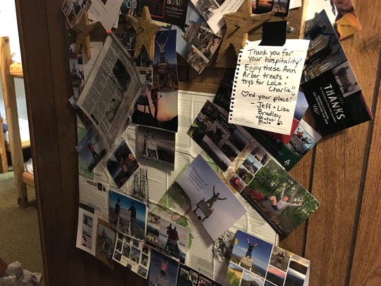 Hikers often send thank-you notes or photos of themselves once they've finished the Appalachian Trail to Adam Stanley as a sign of appreciation for the use of his hostel in Waynesboro.