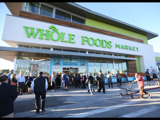 About 200 people were in line when Whole Foods opened