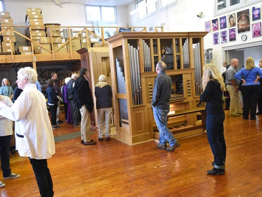 An open house at Taylor and Boody Organ Builders in Staunton allows the public a chance to see and experience organs Opus 71 and 73 on Feb. 12, 2017.