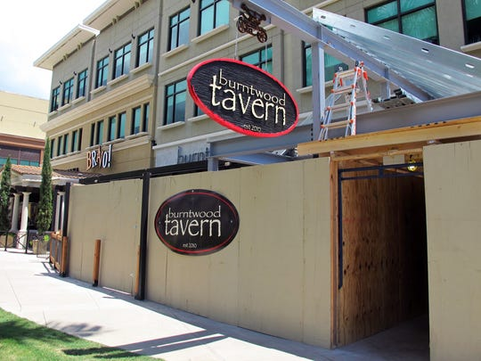Although the restaurant is open, the entrance and patio are still under construction at Burntwood Tavern in North Naples.