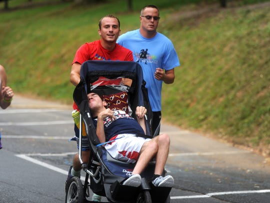 Dustin Thurston was diagnosed with cerebral palsy when