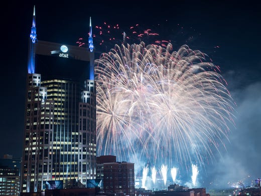 Nashville 4th Of July Schedule Lineup Fireworks Broadway Concerts