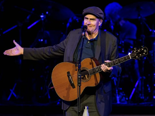 James Taylor performs at Bridgestone Arena, Wednesday,