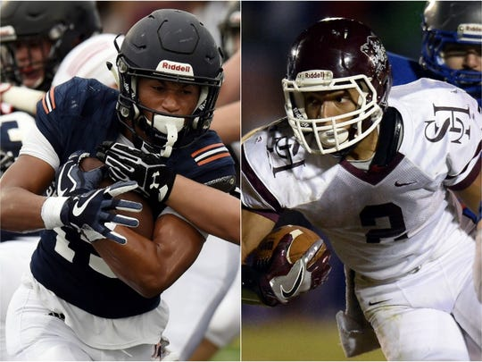 Summit's Tai Carter (left) and Spring Hill's Dontae Smith (right) are among the top running backs in Middle Tennessee.