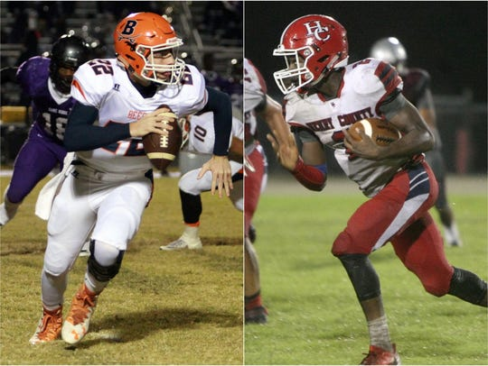 Beech quarterback Nelson Smith (left) and Henry County