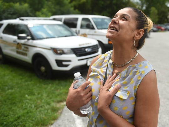 """""""Sometimes it's better to face your problems,"""" said Claudia Ortiz, of York,  who was relieved after participating in Operation Safe Surrender, where she was able to take care of her outstanding warrant for DUI. Officials encouraged people to stop by the church to resolve outstanding warrants."""