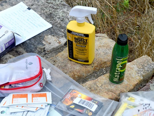 Various types of insect repellants are available on