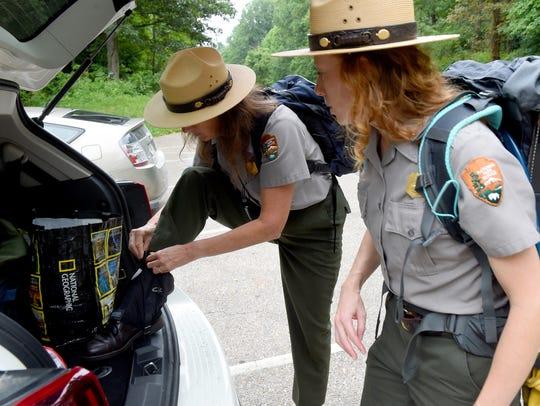 Park ranger Sally Hurlbert of the National Park Service