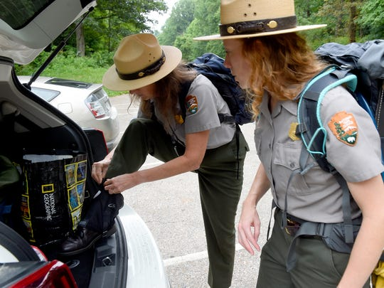 Park ranger Sally Hurlbert of the National Park Service