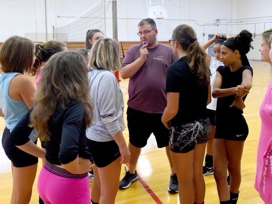 Jonathan Frame takes over at the Riverheads JV volleybal coach after starting the Shelburne Mdidle School program two years ago.